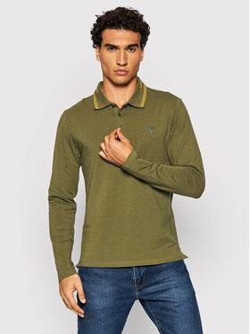 Guess Guess Polo M1BP36 J1311 Zielony Extra Slim Fit