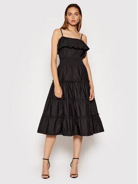 Rinascimento Rinascimento Sukienka letnia CFC0103583003 Czarny Regular Fit