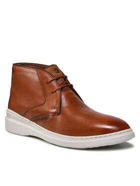 Clarks Clarks Šnurovacia obuv Dennet Mid 261629717 Hnedá
