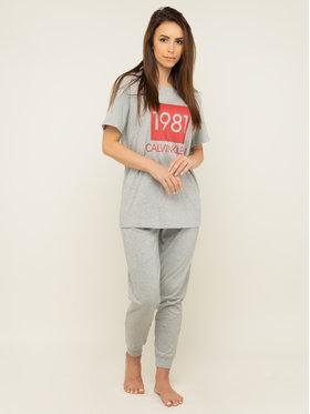 Calvin Klein Underwear Calvin Klein Underwear Marškinėliai Lounge Logo 000QS6343E Pilka Regular Fit
