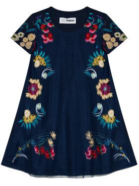 Desigual Desigual Kleid für den Alltag Ada 21SGVK32 Dunkelblau Regular Fit