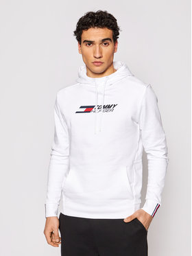 Tommy Hilfiger Tommy Hilfiger Bluza Logo MW0MW17255 Biały Relaxed Fit