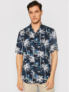 Only & Sons Only & Sons Chemise Palm 22019157 Bleu marine Regular Fit
