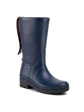 TOMMY HILFIGER TOMMY HILFIGER Guminiai batai Elevated Th Hardware Rainboot FW0FW04583 Tamsiai mėlyna