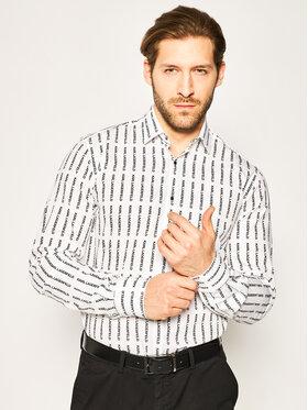 KARL LAGERFELD KARL LAGERFELD Koszula 605003 501689 Biały Slim Fit