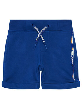 KARL LAGERFELD KARL LAGERFELD Short de sport Z24108 M Bleu Regular Fit