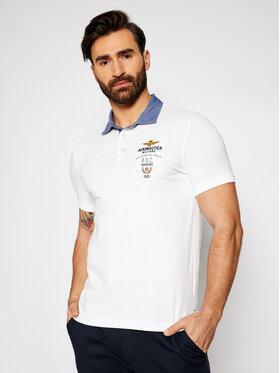 Aeronautica Militare Aeronautica Militare Тениска с яка и копчета 211PO1564J506 Бял Regular Fit