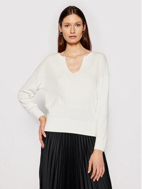 Calvin Klein Calvin Klein Пуловер Logo Open Neck K20K202907 Бежов Regular Fit