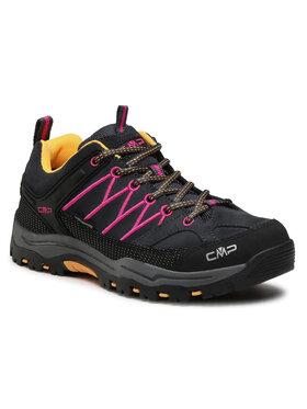 CMP CMP Bakancs Kids Rigel Low Trekking Shoes Wp 3Q13244J Fekete