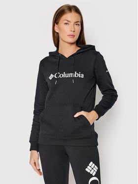 Columbia Columbia Felpa Logo 1895751 Nero Regular Fit