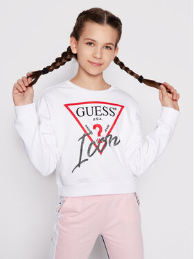 Guess Guess Džemperis J1RQ14 KAD70 Balta Regular Fit