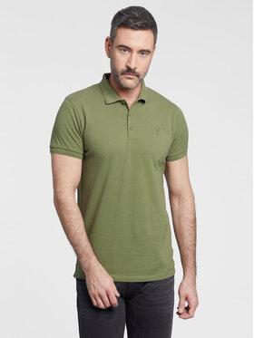 Vistula Vistula Тениска с яка и копчета Mike XA1271 Зелен Regular Fit