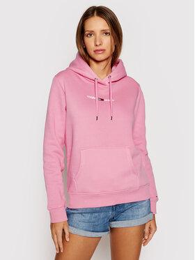 Tommy Jeans Tommy Jeans Mikina Linear Logo DW0DW10132 Růžová Regular Fit