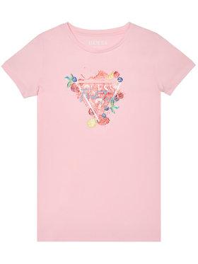 Guess Guess Marškinėliai K1GI19 K6YW1 Rožinė Regular Fit