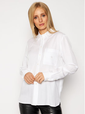 Calvin Klein Jeans Calvin Klein Jeans Košile J20J215132 Bílá Regular Fit