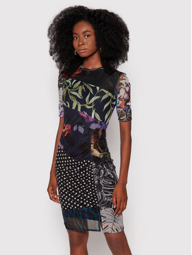 Desigual Desigual Ежедневна рокля Amber 21WWVK70 Черен Slim Fit