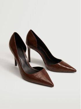 Mango Mango Pantofi cu toc subțire Audrey3 17085934 Maro