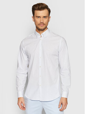Selected Homme Selected Homme Chemise Michigan 16073122 Blanc Slim Fit