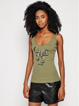 Guess Guess Top Arlene W1GP0J K1811 Zielony Slim Fit