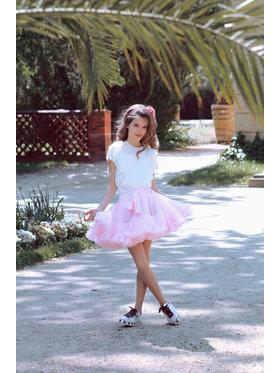 LaVashka LaVashka Spódnica 4-B Różowy Regular Fit