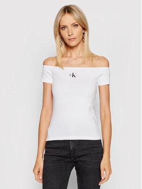 Calvin Klein Jeans Calvin Klein Jeans Bluză Essentials J20J217165 Alb Slim Fit
