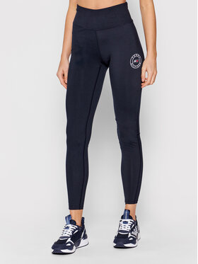 Tommy Hilfiger Tommy Hilfiger Leggings Round Graphic S10S101092 Tamnoplava Skinny Fit