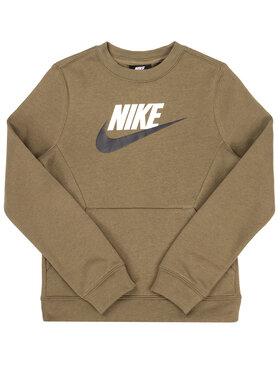 NIKE NIKE Bluză Club Fleece BV0785 Verde Standard Fit