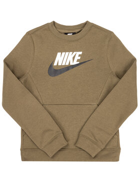 NIKE NIKE Pulóver Club Fleece BV0785 Zöld Standard Fit
