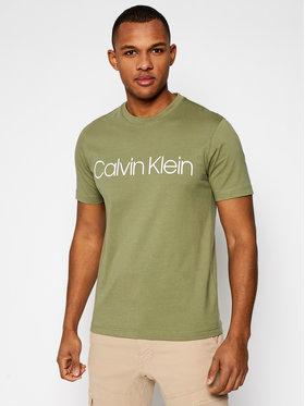 Calvin Klein Calvin Klein Tričko Front Logo K10K103078 Zelená Regular Fit
