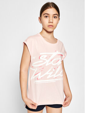 4F 4F T-shirt HJL21-JTSD009A Rosa Regular Fit