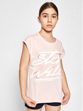 4F 4F T-Shirt HJL21-JTSD009A Różowy Regular Fit
