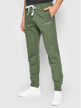 Champion Champion Spodnie dresowe Blend Small Script Logo 216479 Zielony Regular Fit