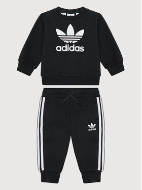 adidas adidas Sportinis kostiumas Crew Sweatshirt ED7679 Juoda Regular Fit