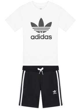 adidas adidas Комплект тишърт и панталонки Adicolor H25274 Бял Regular Fit