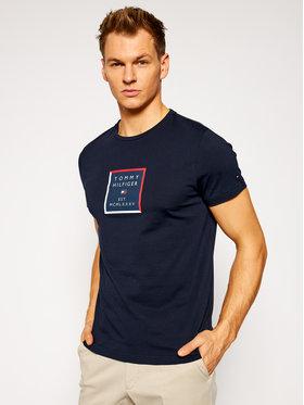 Tommy Hilfiger Tommy Hilfiger T-shirt Box Print MW0MW15352 Blu scuro Regular Fit