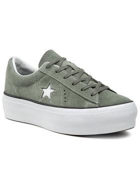 Converse Converse Sneakers aus Stoff One Star Platform Ox 564383C Grün