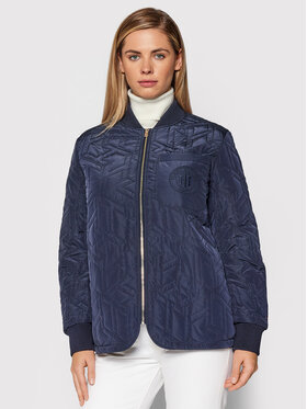 Tommy Hilfiger Tommy Hilfiger Pūkinė striukė Cube Quilted WW0WW31233 Tamsiai mėlyna Loose Fit
