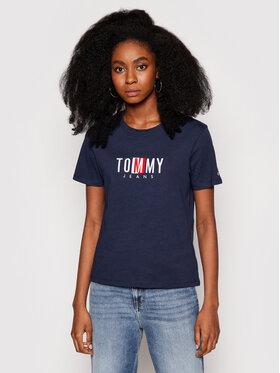 Tommy Jeans Tommy Jeans Marškinėliai Tjw Timeless Box DW0DW09809 Tamsiai mėlyna Regular Fit
