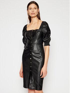 Pinko Pinko Sukienka z imitacji skóry Lunatico PE 21 BLK01 1G160V 7105 Czarny Slim Fit