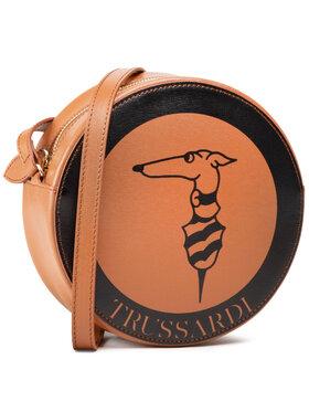 Trussardi Trussardi Torebka Logo Pop Disco Bag 75B01067 Brązowy