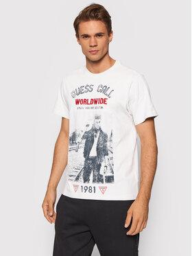Guess Guess T-Shirt M1YI70 K8FQ1 Biały Regular Fit