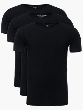 Tommy Hilfiger Tommy Hilfiger Komplet 3 t-shirtów Essential 2S87905187 Czarny Regular Fit