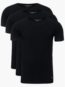 Tommy Hilfiger Tommy Hilfiger Set 3 tricouri Essential 2S87905187 Negru Regular Fit