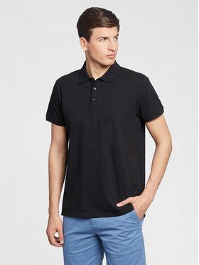 Vistula Vistula Тениска с яка и копчета Mike XA1268 Черен Regular Fit