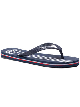 Pepe Jeans Pepe Jeans Джапанки Swimming Stripes PMS70089 Тъмносин