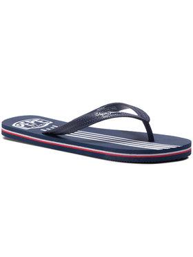 Pepe Jeans Pepe Jeans Šlepetės per pirštą Swimming Stripes PMS70089 Tamsiai mėlyna