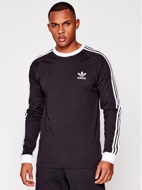 adidas adidas Marškinėliai ilgomis rankovėmis adicolor Classics 3-Stripes GN3478 Juoda Slim Fit