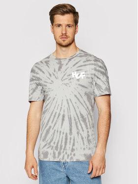 HUF HUF T-Shirt HAZE Brush Tie Dye TS01383 Szary Regular Fit