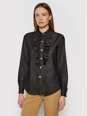 Luisa Spagnoli Luisa Spagnoli džinsiniai marškiniai Level 538524 Pilka Regular Fit