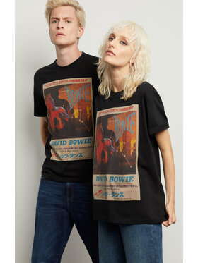 Vistula Vistula Тишърт Unisex David Bowie 5 XA1339 Черен Regular Fit
